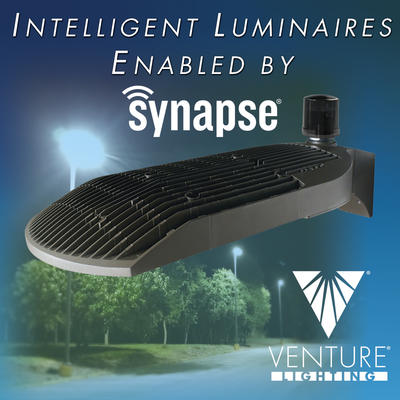 Venture Lighting Announces Intelligent Luminaires Enabled By Synapse Wireless