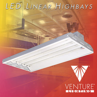 New DLC Premium LED Linear Highbay Luminaires By Venture Lighting