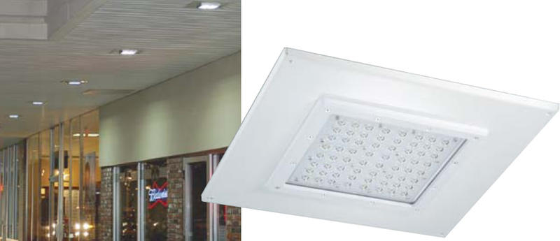 Description. The Venture Lighting LED Recessed Canopy ...  sc 1 st  Venture Lighting & 72W Recessed LED Canopy Light | Venture Lighting